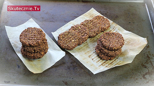 Ciastka czekoladowo-orzechowe (bez mąki i cukru)