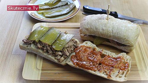 Pulled pork odc.2 Burgery i kanapki na ciepło. Sos BBQ
