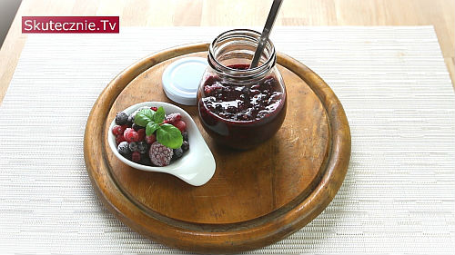 Dżemik owocowy z chia – bez  cukru, z owoców świeżych lub mrożonych