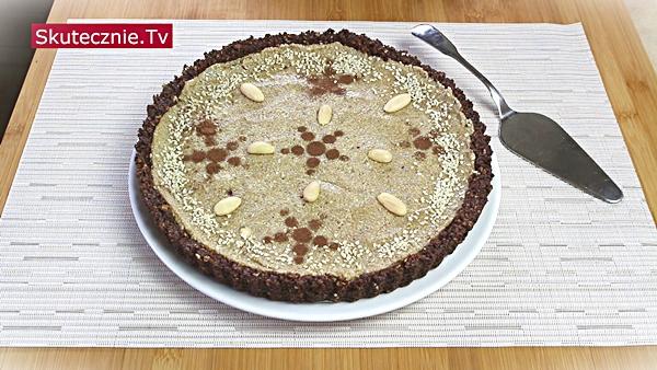 Mazurek czekoladowo-orzechowy z sezamem (bez pieczenia)