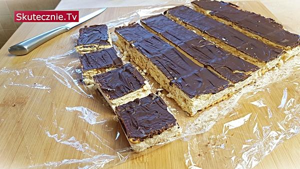 Ciasto batonikowe   Batoniki   Ciasto bez pieczenia