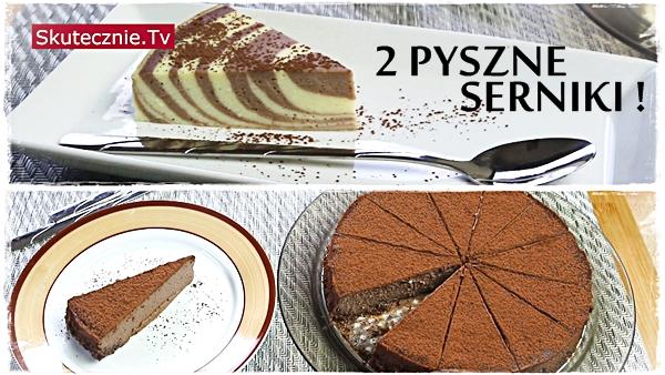 Sernik z szybkowaru: w paski i sernik czekoladowy (2 serniki)