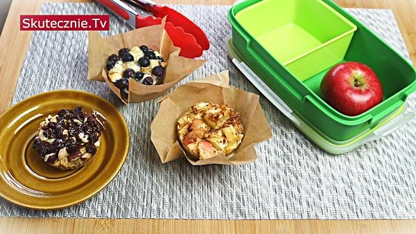 Przekąski do szkoły | Muffiny owsiane z dodatkami