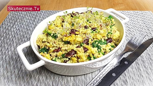 Szybki obiad. Kasza jaglana z mięsem, fasolą i ziołami | BEZ STATYWU