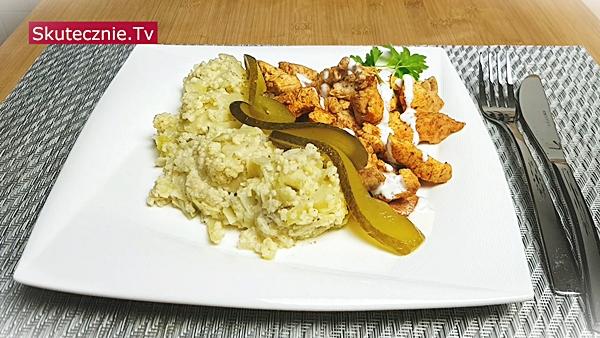 Szybki obiad. Oszukany kebab i kasza jaglana z kapustą