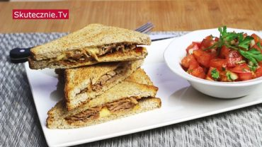 Pełnoziarniste tosty z pulled pork (na blasze, imprezowe)