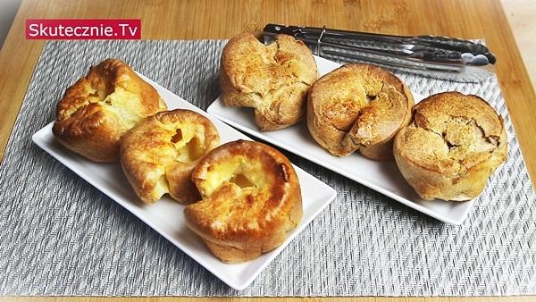 Popovers w formie na muffiny - klasyczne i pełnoziarniste