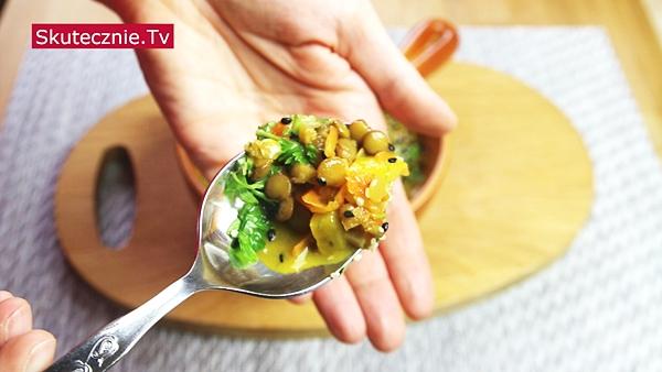 Soczewica z warzywami na mleku kokosowym (pyszna!)