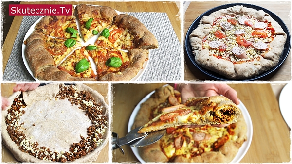 Domowa pizza z faszerowanymi brzegami (pełnoziarnista, pulchne brzegi, pyszny farsz!)