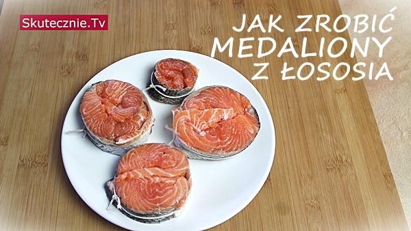 Medaliony z łososia. I puree z kalafiora