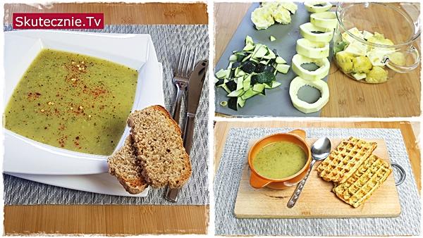 Zupa ze środków cukinii (lub z całej cukinii)