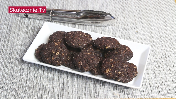 Bardzo czekoladowe ciastka owsiano-orkiszowe