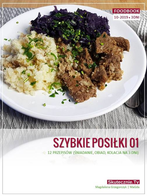 Szybkie posiłki. FoodBook 3 dni (10-2019) - okładka