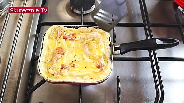 Omlet -smażenie na patelni