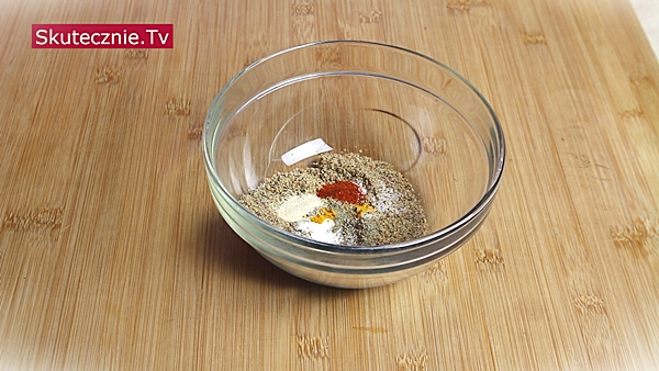 Wrap z siemienia lnianego - przyprawy