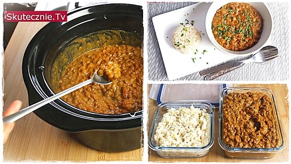 Super pyszne curry z zielonej soczewicy
