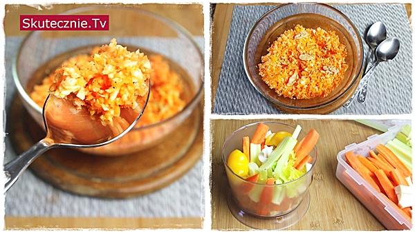 Odżywcza surówka z marchwią, pietruszką, papryką i orzechami