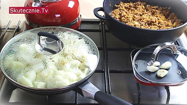 Zapiekanka pasterska z wołowiną, kalafiorem i selerem