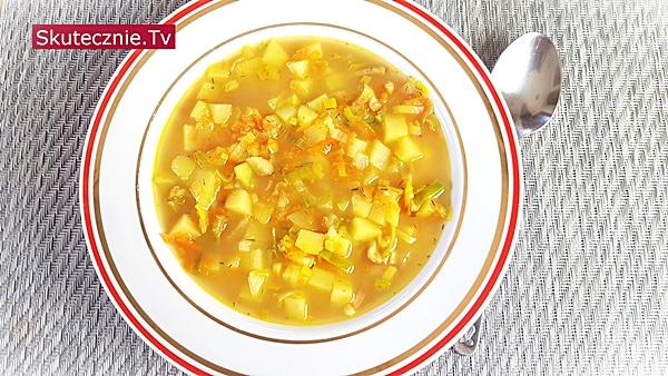 Zupa ziemniaczano-porowa (resztkowa)   BEZ STATYWU