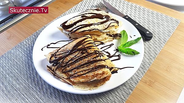 Naleśniki z twarożkiem bananowym i czekoladą