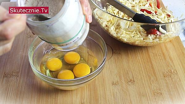 Orientalny omlet z kapustą (na ciepło i na zimno)