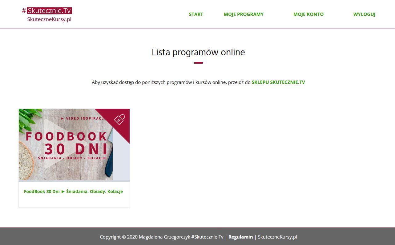 Platforma FoodBook 30 Dni - widok 1