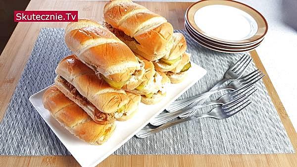 Bułeczki mleczne • Kanapki Pulled Pork