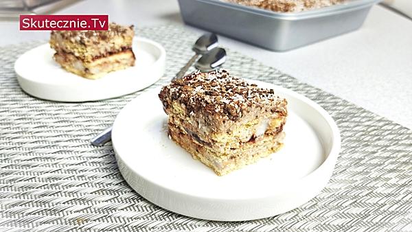 Kokosowa straciatella (szybkie ciasto bez pieczenia)